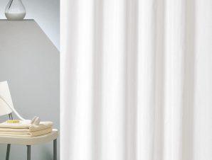 Κουρτίνα Μπάνιου Ξενοδοχείου Anesis Υφασμάτινη Πολυεστερική – Αδιάβροχη White 180×200