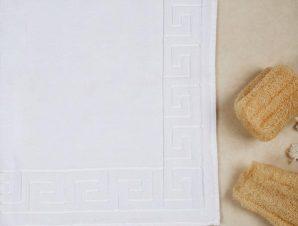 Πατάκι Μπάνιου Anesis Με Κορνίζα Μέανδρο Λευκό 50×70