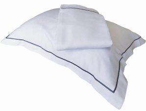 Σεντόνι 260×295εκ. 100% Βαμβακοσατέν 310TC Με Ρίγα Satin Plain Line (Ύφασμα: Βαμβακοσατέν, Χρώμα: Λευκό) – OEM – 5201847010442