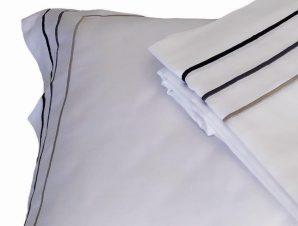 Παπλωματοθήκη 250×230εκ. 100% Βαμβακοσατέν 310TC Με Ρίγες Satin Plain Line – OEM – 5201847010671