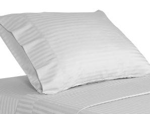 Σεντόνι 240×280εκ. 70% Βαμβάκι-30% Polyester 240TC Με Ρίγα 1cm Polycotton Luxury Line (Ύφασμα: Cotton 70% – Polyester 30%, Χρώμα: Λευκό) – OEM – 5201847006759