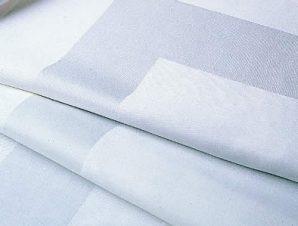Τραπεζομάντηλο 105×105εκ. Βαμβακερό Satin Band Line White (Ύφασμα: Βαμβάκι 100%, Χρώμα: Λευκό) – OEM – 5201847010145