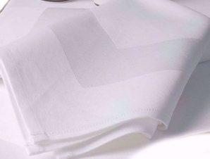 Τραπεζομάντηλο 53×53εκ. Βαμβακερό Satin Band Line White (Ύφασμα: Βαμβάκι 100%, Χρώμα: Λευκό) – OEM – 5201847010138